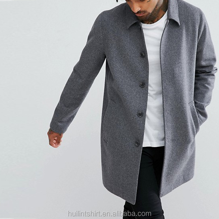 New products 2018 men wools coat design your own coat image
