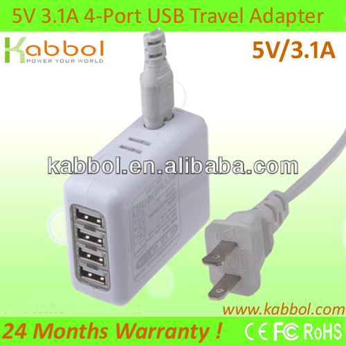 15W 5V/3A USB Charger for iPhone 5s, 5c, 5, 4s, 4; iPad 5, Air, mini; ipod Touch, nano; Samsung Galaxy S4, S3