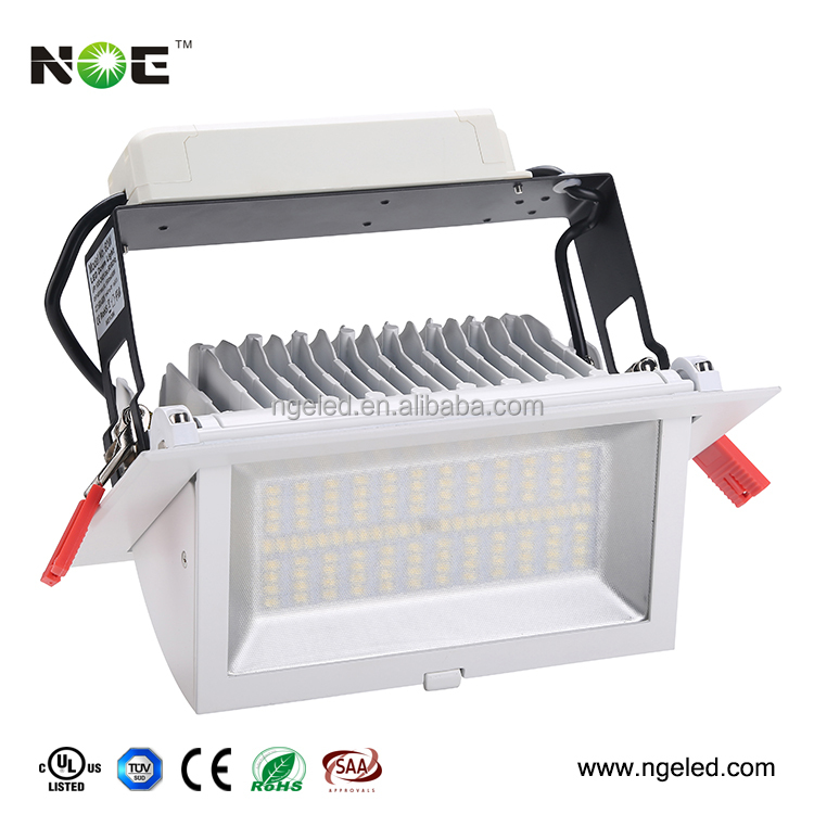 Dimmable Rectangular Recessed IP44 60w Led Spot Downlight