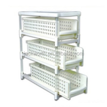 3-Tier Sliding Shelves Multi-Drawer Cabinet Storage Organizer