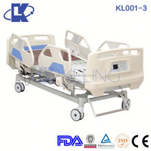 KL001-3 ,Five functions ICU electric bed with X-ray function for sale,CE Approved electric hospital bed for ICU room