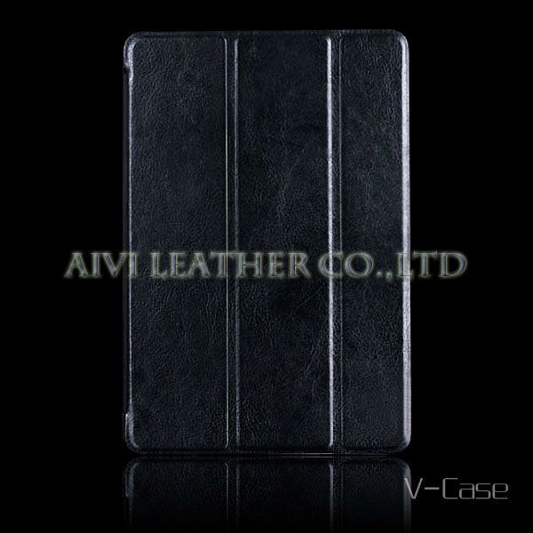 Protective Leather Case With Tri-Fold Stand for apple iPad mini