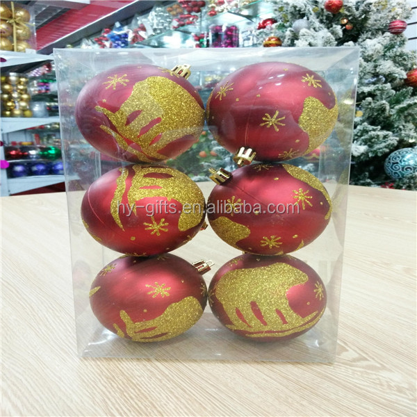 colorful gold red christmas ball gfit box christmas tree decoration ball