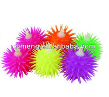 light LED squeezable balls anti stress toys puffer TPR material