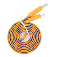 Colorful Noodle Micro Braided USB Data Cable For iPhone 6 7 8 Nokia N70