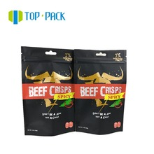 custom print stand up plastic aluminum foil ziplock zipper beef jerky packaging bags
