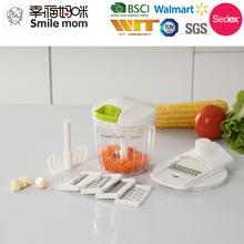 A372-E Easy to use 2 in 1 food chopper vegetable slicer chopper dicer pull salad chopper