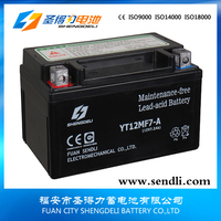 Dry Cell Motorcycle Battery 12v 7ah Maintenance Free Rechargeable For 125cc Motorcycle