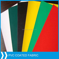 Transparent and colored PVC coated fabric for bags