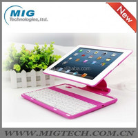 keyboard For ipad 2 3 4 case Aluminum case with bluetooth keyboard, 4 colors optional