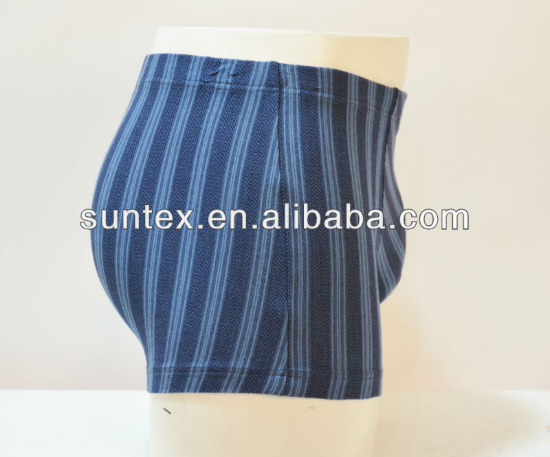 nylon and spandex underwear for men's stripes printed underwear boxer shorts