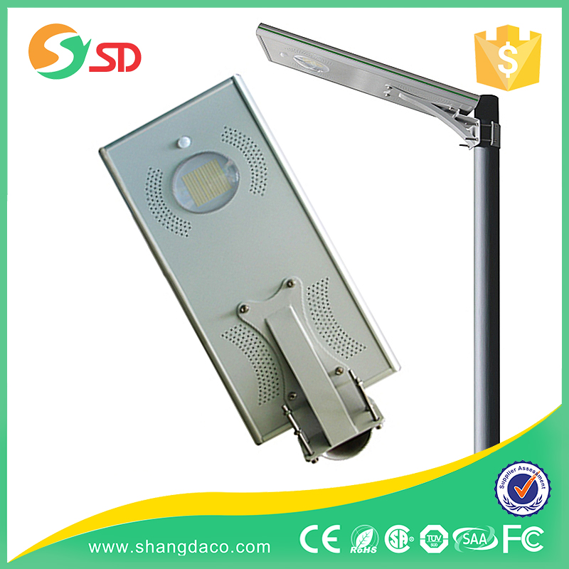 PIR sensor integrated led solar plaza light