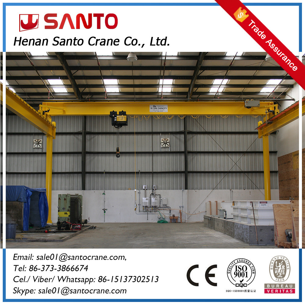 Lowest Price Electric Motor Drive Single Girder Bridge
