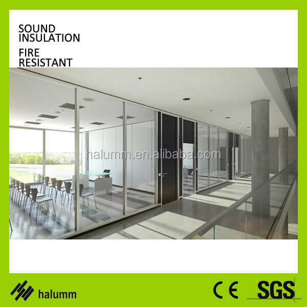 Europe Double Glazed Blind Office Partition Wall Single Glass ...