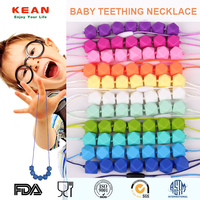 FDA Food-safe Chic Silicone Nursing Teething Child Jewelry Chewing Toy/Kids Bead Necklace