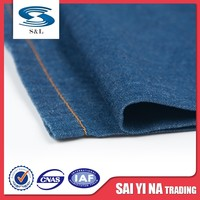 Fashion new design wholesale 100% cotton denim fabric for cloth jeans