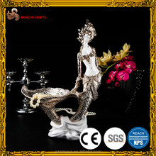 hotel reception decor sexy woman resin figurine marvel resin mermaid figurine customized resin statues