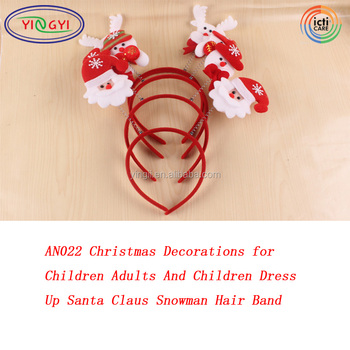 AN022 Christmas Decorations for Children Adults And Children Dress Up Santa Claus Snowman Hair Band