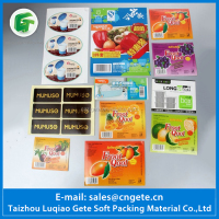 Custom Printed Waterproof Sticker Adhesive Food Label