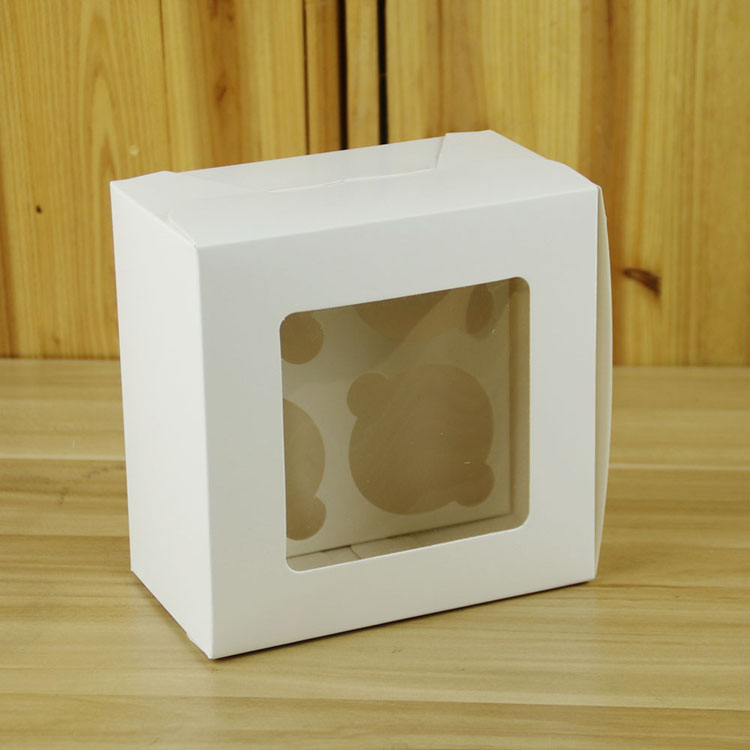 4 seats white paper birthday party decoration cake gift box packaging