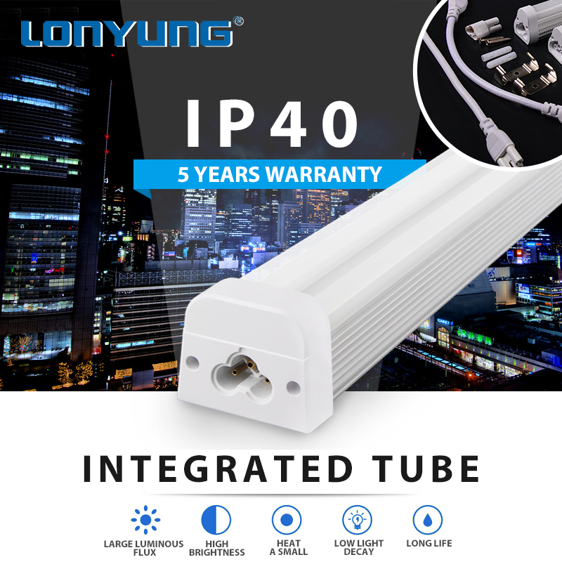 CE TUV ETL DLC 110lm/w 2700-6500K advertising led tube double side saa
