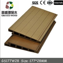 Exterior Decorative wpc composite covering wood plastic wall panel