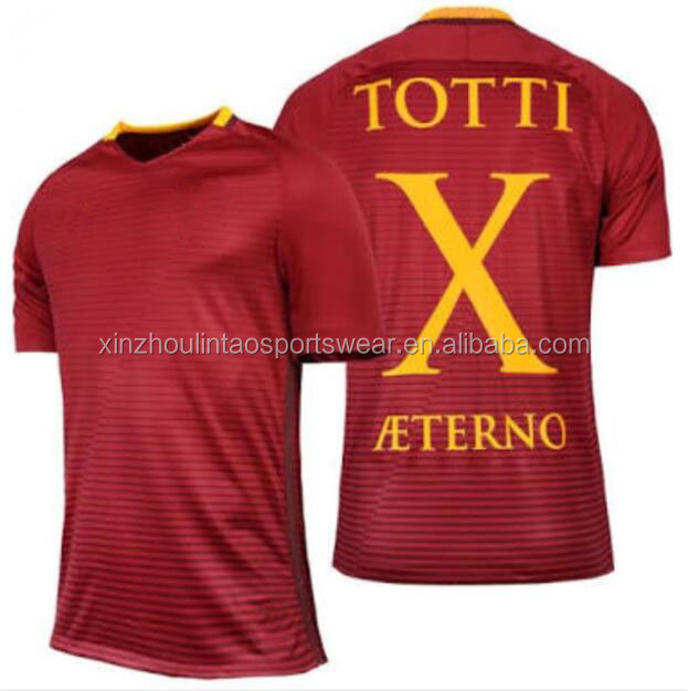 2016/<strong>17</strong> TOTTI X AETERNO shirt football jersey maglietta da calcio top thai quality wholesale dropship