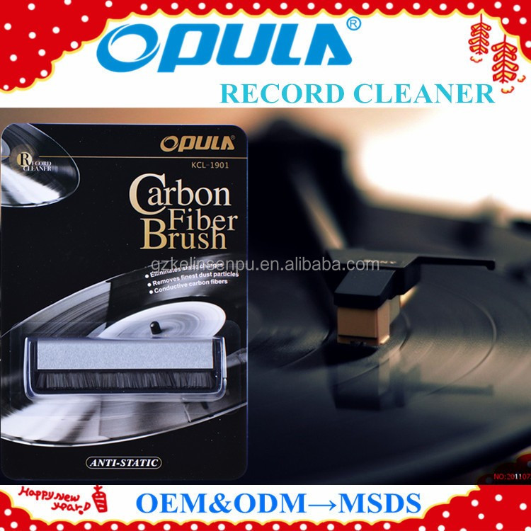 OEM welcome hot sales vinyl record cleaner anti-static carbon fiber brush