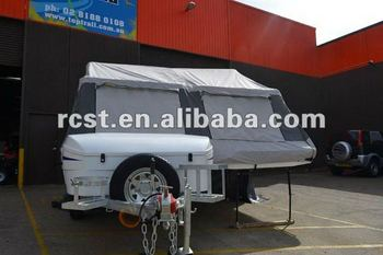 popular light weight camper trailer made of fiberglass with double beds and alko axle
