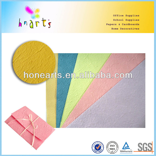 colorful handmade paper letter writing sets/55-70gsm handmade paper letter writing sets