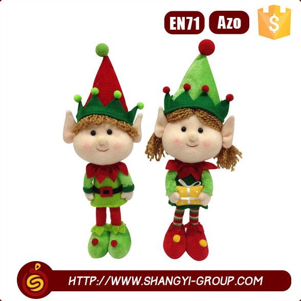 New style custom doll green clothing elf girl stuffed plush toy