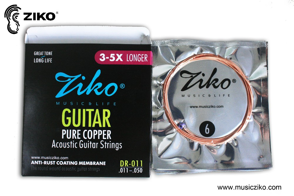 red copper coating guitar strings for acoustic guitar
