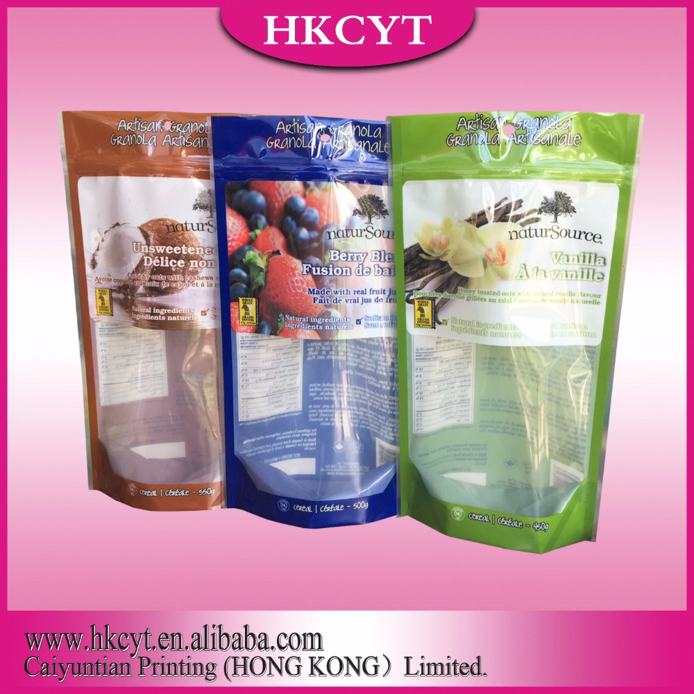 China factory Custom order resealable mylar packaging bags ziplock mylar bags for pizza,fruit,frozen food