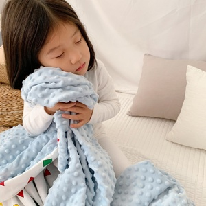 Wholesale cheap minky blanket baby, minky weighted blanket