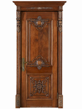 Interior Hard Solid Wood Doors with Carve SFDK-24