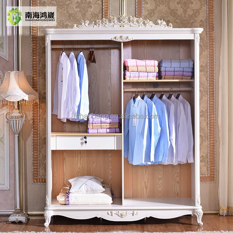 Artesanato Em Tecido ~ Blanco francés antiguo puerta corredera armario dormitorio muebles armario Guardarropas