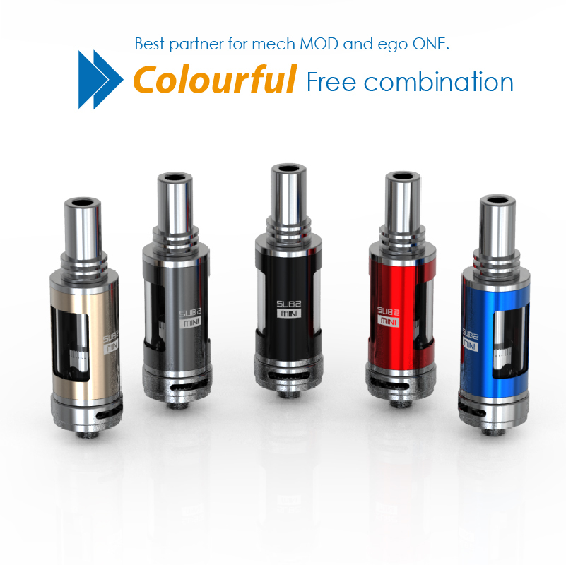 2016 top quality 100% original organtic cotton guided atomizer tank