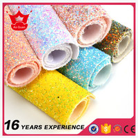 Factory price hot sale syntheric chunky glitter fabric for wallpaper