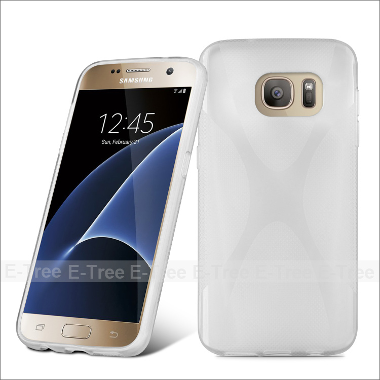 2016 Fresh Durable Soft X Line Tpu Case For Samsung galaxy S7