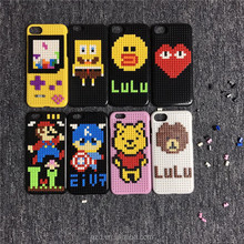 Customization Wholesale 3D toy bricks New Design cheap DIY building block mobile phone case for cell phone for iPhone 7