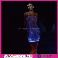 2015 LED glow colors wedding dress