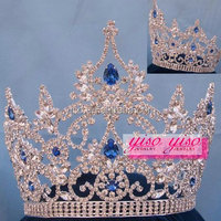 factory hot sale custom rhinestone cheap tall pageant crowns tiaras