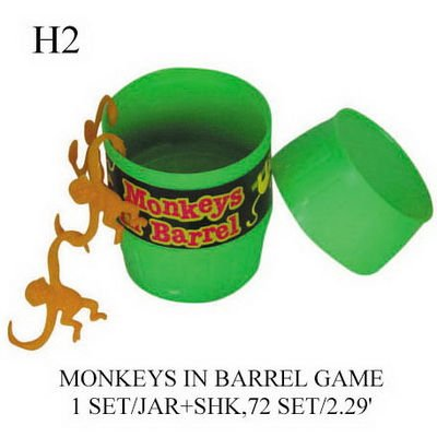 H2 MONKEYS IN BARREL GAME