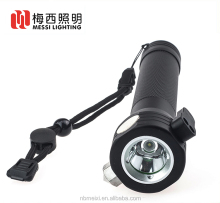 3W Solar Charging Flashlight With Compass Hammer and Belt Cutter