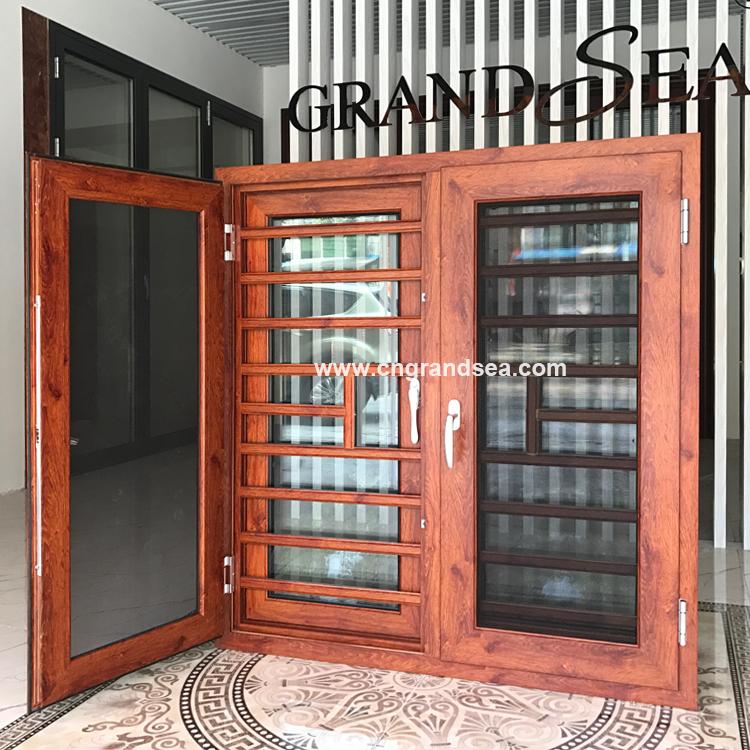 New Design House Double Tempered Glass Aluminium Doors Windows In