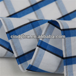 50*50 drapery soft yarn dyed plaid 100 cotton blue and white stripe fabric