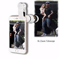 Portable Mobile Phone Telephoto Lens 8x Zoom Optical Telescope Camera Lenses for iPhone 4 5 6 Plus Samsung S3 S4 S5 Note 4 5 6