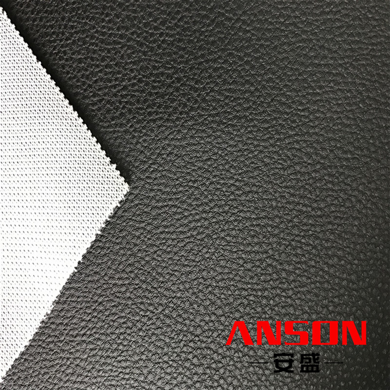 knitted backing pvc synthetic car wrap vinyl leather for automobile