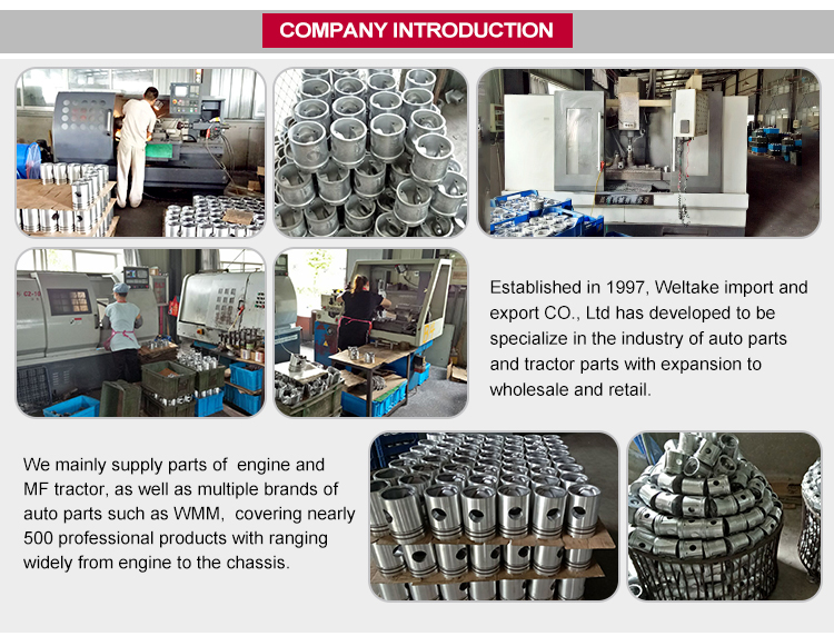 WMM High Quality Agriculture Machinery Parts MF Engine Cylinder Liner