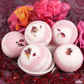 Handmade Luxury moisturizing romantic bombs bath salt fizzer OEM /High essence oil dry flower SPA bath fizzer